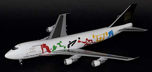 "UPS B747-200SF ""Olympic"" N521UP (1:200) - Special Clearance Pricing by JC Wings Diecast Airliners Item: XX2794"