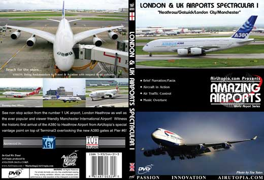 London and UK - First A380 in UK/ Heathrow & Manchester Airports (DVD), Air Utopia Aviation DVDs Item Number AUT29
