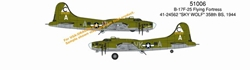 "B-17F-25 Flying Fortress ""Sky Wolf"" (1:144), DragonWings 1:144 scale Diecast Warbirds Item Number DRW51006"