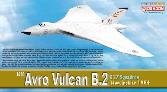 Avro Vulcan B.2, 617 Squadron Lincolnshire 1964 (1:200), DragonWings 200 Diecast Airliners Item Number DRW52007