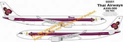 Thai Airways A330-300 (1:400), DragonWings 400 Diecast Airliners Item Number DRW55551