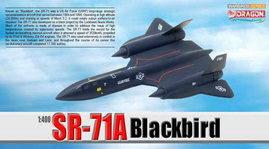 SR-71A Blackbird USAF 9th SRW, 61-7967, Beale AFB, CA (1:400), DragonWings 400 Diecast Airliners Item Number DRW56263
