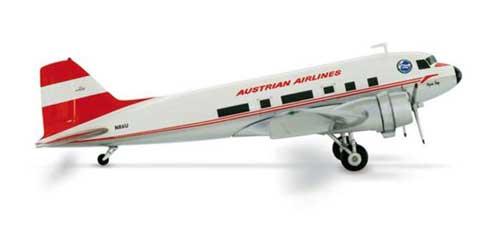 Austrian DC-3 First Austrian DC-3 Club (1:200), Herpa 1:200 Scale Diecast Airliners Item Number HE552967