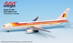 Iberia Spain 767-300 (1:500), InFlight 500 Scale Diecast Airline models Item Number IF5763003