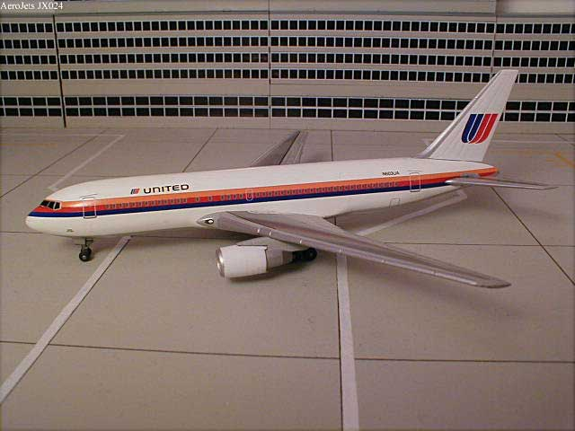 "United Airlines B767-200 ""Small Titles"" (1:400), Jet X 1:400 Diecast Airliners Item Number JET024"