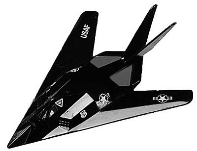 "F-117A Stealth Fighter (3.5""), Motormax Diecast Item Number DS-F117"