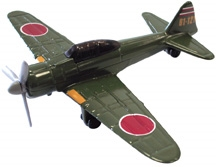 "Zero Fighter (4.5"") - assorted colors, Motormax Diecast Item Number IN-WWZS"
