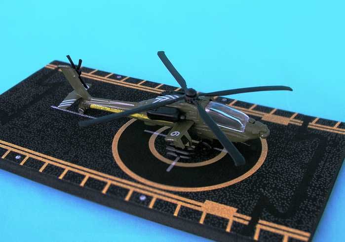 "Apache AH-64 (With military Markings) (Approx. 5""), Hot Wings Toy Airplanes Item Number HW14111"