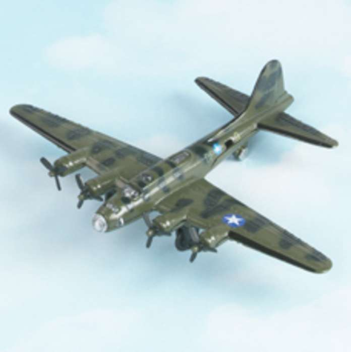 "B-17 Flying Fortress - Green (Approx. 5""), Hot Wings Toy Airplanes Item Number HW17103"