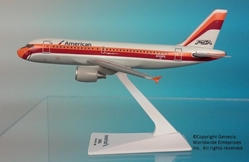 "American / PSA A319 ""Heritage Livery"" (1:200), Flight Miniatures Snap-Fit Airliners, Item Number AB-31900H-009"