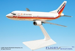 Air Europa 737-300 (1:180), Flight Miniatures Snap-Fit Airliners, Item Number BO-73730F-016