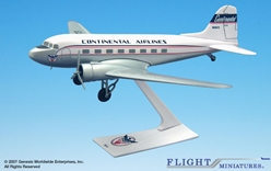 Continental DC-3 (1:100), Flight Miniatures Snap-Fit Airliners, Item Number DC-00300C-001