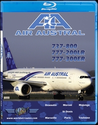 Air Austral 737-800, 777-200LR & 777-300ER (BluRay DVD), Just Planes Aviation Blu-Ray Item Number JPREU2DB