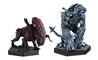 Aliens Retro Figure Collection #2 - Bull and Gorilla 2-Piece Set - Cast in Metallic Resin  - Hand-Painted Figurine  - Approximately 5.5 Inches Tall