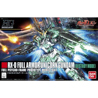 #178 Full Armor Unicorn Gundam Destroy Mode, Gundam Models Item Number BAN189487