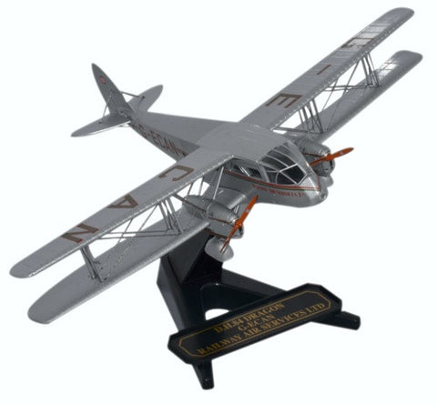 de Havilland DH.84 Dragon, Railway Air Services, G-ECAN, Oxford Diecast 1:72 Scale Models Item Number 72DG001