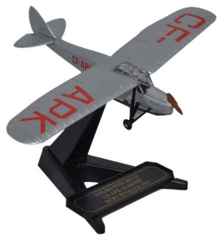 de Havilland DH.80 Puss Moth, Bert Hinkler, CF-APK, Oxford Diecast 1:72 Scale Models Item Number 72PM006