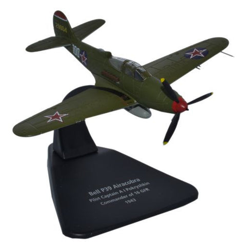 Bell P-39 Airacobra, 88-victory ace Alexander Pokryshkin, 16 GIAP, Soviet Air Force, 1943 (1:72), Oxford Diecast 1:72 Scale Models Item Number AC055