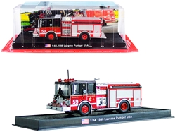 "1998 Luverne Pumper Fire Engine Red and Black ""Chicago Fire Department"" (Illinois) 1/64"