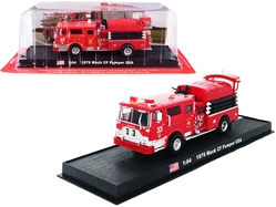 "1979 Mack CF Pumper Fire Engine Red FDNY ""New York City Fire Department"" (New York) 1/64"