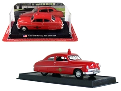 "1949 Mercury Coupe ""Fire Chief"" 1/43y Amercom by Amercom <p> Item Number: ACSF48"