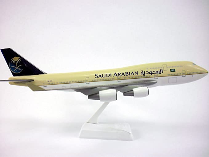 Saudi Arabian B747-400 (1:200), Flight Miniatures Snap-Fit Airliners, Item Number BO-74740H-008