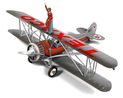 Texaco - 1929 Waco Straightwing Barnstormer, Special Brushed Metal Edition
