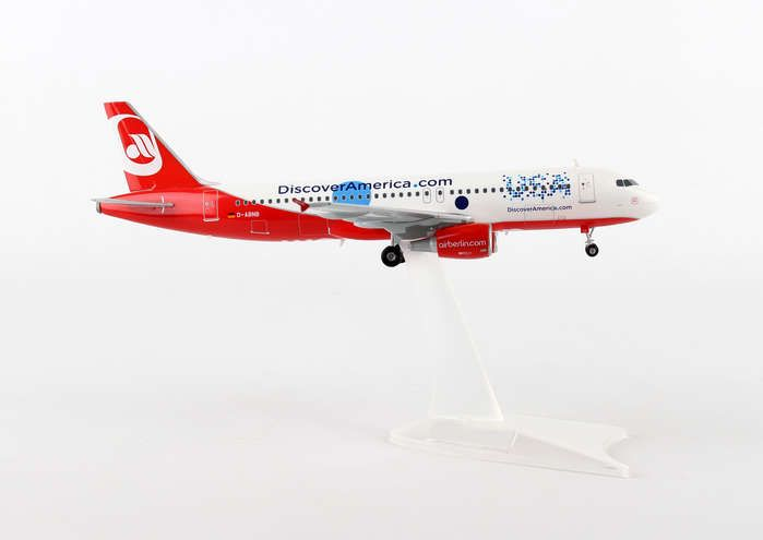 "Air Berlin A320 ""DiscoverAmerica.com D-ABNB (1:200), Herpa 1:200 Scale Diecast Airliners Item Number HE557306"