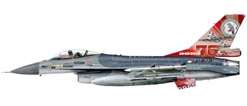 Royal Netherlands Air Force Lockheed Martin F-16A, 322 Squadron , Leeuwarden AB, 75th Anniversary, J-879 (1:72), Herpa 1:72 Item Number HE580403