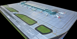 Airport Mat Set For New Terminal (1:400) by GeminiJets 400 Diecast Airliners Item Number: GJAPS008