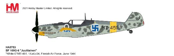 BF 109G-6 Die Cast Model 1/LeLv34, Finnish Air Force, June 1944 (1:48)